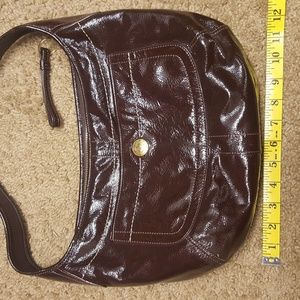 Dark Brown Patent Leather Authentic Coach Purse
